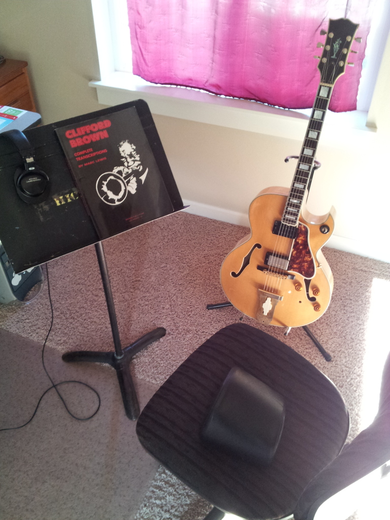 Guitar practice chair - My Practice Space Keep It Simple Music Stand Guitar Stand My Favorite Chair Some Really Fun Sight Reading Mypracticespace