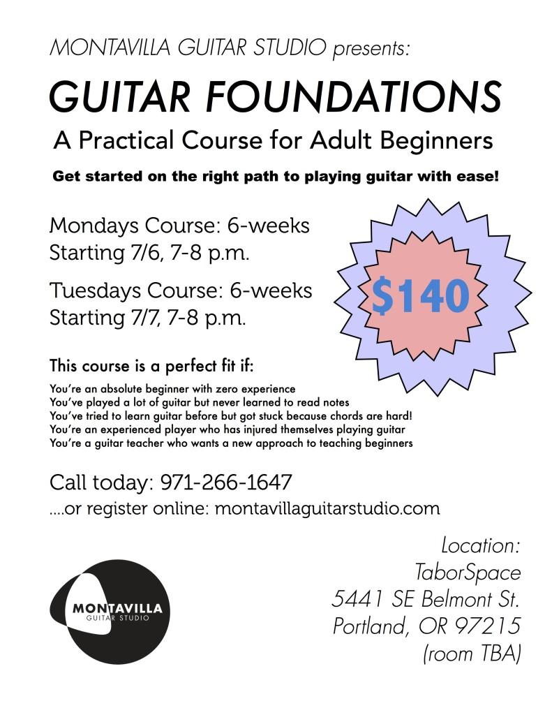 Summer 2015 Adult Guitar Classes